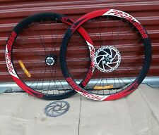 """26"""" wheels with 7speed shimano freewheel Cog✓ reflector✓ disc  red sticker"""