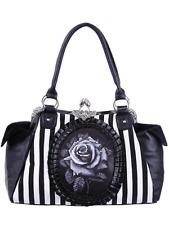 Restyle Black Rose Handbag Handtas NEW