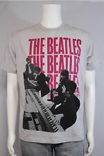 Men's LARGE The Beatles Group Band Gray SS T-shirt
