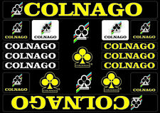 Colnago Bicycle Bike Frame Decals Stickers Adhesive Graphic Set Vinyl Yellow