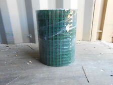 3/4 Inch Square Wire Mesh, Galvanized Green Vinyl Coated