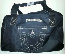 True Religion mens duffle weekend gym black bag NEW
