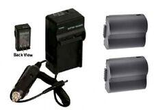 TWO 2 Batteries + Charger for Panasonic DMC-FZ7S DMC-FZ7BB DMC-FZ7BS DMC-FZ7EBK