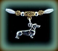 DACHSHUND DOG JEWELRY Pendant Necklace - Sausage Weiner DOXIE Puppy Pup