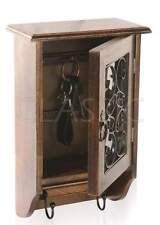 Wooden & Wrought Iron KeyBox ✿ Key Hanger Box ✿  Antique type Home Decor Utility