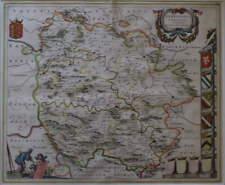HEREFORDIA COMITATUS. HEREFORD-SHIRE BLAEU CIRCA 1645