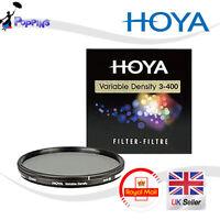 NEW HOYA 62mm VARIABLE DENSITY Variable Neutral Density ND3-ND400 62 mm Filter