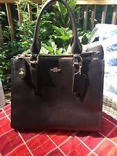 COACH CROSBY CARRYALL SMOOTH LEATHER IN BROWN GOLD HARDWARE SHOULDER BAG