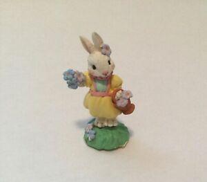 Flower Girl Bunny Figurine - COTTONTAIL LANE VILLAGE~ HTF!