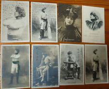 Lot de 8 CPA de Sarah Bernhardt