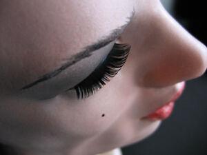 Latexmaske EMILIA + WIMPERN Realist. weibliche Frauenmaske Crossdresser Trans