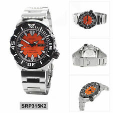 Seiko Monster Orange Fang 2nd Gen Diver's Men's Stainless Steel Watch