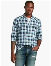 Camicie casual e maglie da uomo blu in cotone taglia M