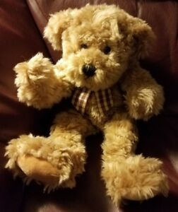 """7"""" Progressive Plush Teddy Bear Light Brown soft and fluffy with brand tag"""