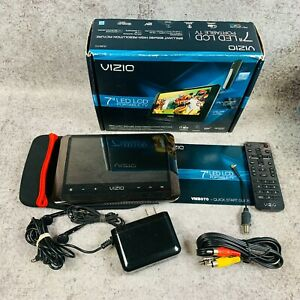 """Vizio 7"""" LED LCD Portable TV Complete In Box CIB Working"""