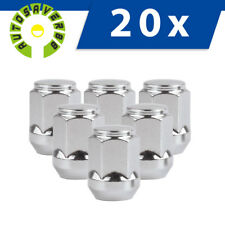 "20 Chrome Steel 12x1.5 Lug Nuts Bulge Acorn Cone Seat for Ford Escape 3/4"" Hex"