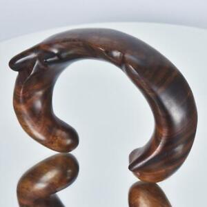 Natural Rosewood Cuff Bracelet Handmade in Bali 63.20 g Size L