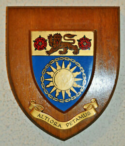 Salford University plaque shield crest coat of arms
