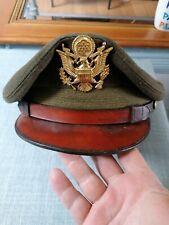 Superbe casquette officier armée us USAAF CRUCHER 7 3/8 ww2 original