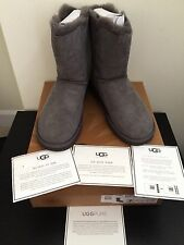 NIB $220 UGG Australia Bailey Jewel Button Boots Grey Size 7