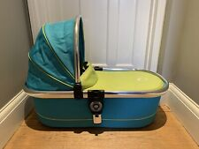 Icandy Peach Carrycot Sweetpea  - Blue/green In Very Good Clean Condition