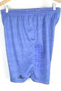 adidas Mens sz Large Blue ClimaLite 3 Stripe Athletic Shorts