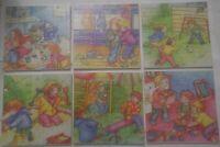 lot de 6 puzzles en bois 20 pièces pour enfants, apprendre neuf sous blister
