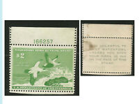 US Duck Stamp, RW 24 Plate Number Single, MNH, OG, VF+, Bright Color, Fresh
