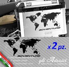 2 Adesivi Stickers Planisfero BMW R 1200 1150 1100 gs valigie adventure R GS adv