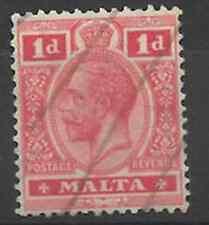 Malta 1914/21 - SG #73, 1d, Carmine-red - KGV