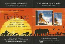 X1664 The Lion King - Colonna Sonora Disney - Pubblicità del 1994 - Vintage ad