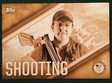 2016 Topps Olympics Gold 5X7 Jumbo Card Kim Rhode Insert Team USA #/10 Rare
