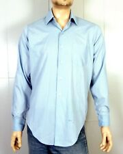 vtg 60s Tarleton Deluxe Light Blue Button Down Dress Shirt Rockabilly Sz M 15 35