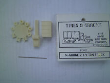 1/160 mm ( N scale ) Tires & Tracks WWII Ford Resin 2 1/2 Ton Truck kit #4