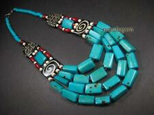 N4466 FASHION Handcraft Tribal Bone Wood Bead Gypsy Spiral Strand NECKLACE TIBET