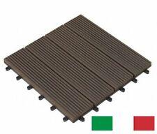 Campione Piastrelle Wpc pavimento per esterno - Marrone scuro -Terrazzo Giardino