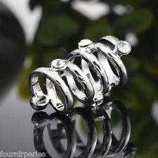 1 Perle FP Européen Strass Spiral DIY Pour Collier Bracelet Charm 15x12mm