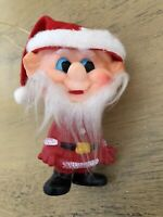 Vintage Plastic Santa Gnome Elf Christmas Ornament Japan