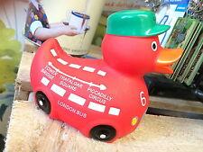 London Bus rubber duck bath fun Baker Street Driver Red Routemaster Depot bnip
