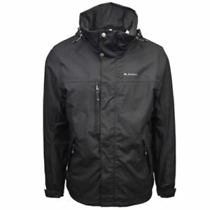 Your Mountain By Quechua Black 3 In 1 Fleece Lined Canvas Winter Jacket (Small)