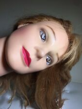 CHI Hair Mannequin Blonde Haired Briana Slightly Creepy Eyes 1990's Vibes
