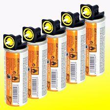 5 x Gaskartusche (Fuel Cell) gelb z.B. für Montana Paslode Hitachi Bostitch  Gas