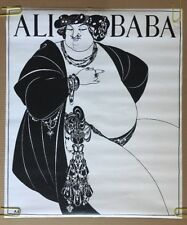 Aubrey Beardsley Ali Baba Vintage Poster Original Pin-up 1960's Arabian Nights