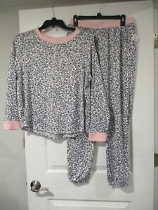 Kensie womens extra soft long sleeve pajamas size Large