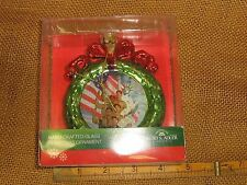 Glass Cub Scout Boy Scouts Of America Wreath Statue Liberty Flag Ornament NWT