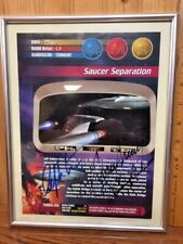 STAR TREK TNG AUTOGRAPHED PAGE