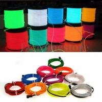 Flexible 2M/5M LED Flash Neon Light Glow EL Strip Tube Wire Rope Car Party Light