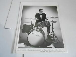 #855 VINTAGE 8x10 MUSICIAN PHOTO - SONOR DRUMS - BUDDY LOWELL