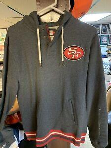 san francisco 49ers Grey Mitchell & Ness Hoody. Size L