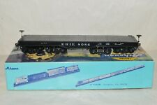 HO scale Athearn Erie RR 4 truck heavy duty flat car train w/ KD's